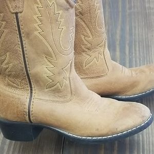 Old West Leather Cowboy Boots Size 1.5